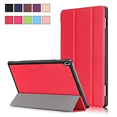 Недорогие Чехлы и кейсы для Lenovo-Кейс для Назначение Lenovo Tab 4 10 Plus / Tab 4 10 со стендом / Магнитный Чехол Однотонный Твердый Кожа PU для Lenovo Tab 4 10 Plus / Lenovo Tab 4 10