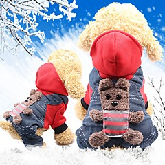 お買い得  犬用品-ネズミ / 犬用 / ウサギ コート 犬用ウェア 動物 / キャラクター イエロー / レッド コットン コスチューム ペット用 女性 スポーツ&アウトドア / ヘッドウォーマー