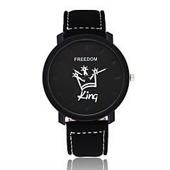 お買い得  レディース腕時計-女性用 リストウォッチ 中国 カジュアルウォッチ レザー バンド ファッション / ミニマリスト ブラック / ブラウン