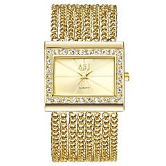 お買い得  レディース腕時計-ASJ 女性用 ドレスウォッチ ブレスレットウォッチ 日本産 日本産クォーツ カジュアルウォッチ 銅 バンド ハンズ ぜいたく ヴィンテージ シルバー / ゴールド - ゴールド シルバー 1年間 電池寿命 / SSUO AG4