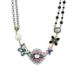 preiswerte Halsketten-Damen Einzelkette Statement Ketten - Blume Einfach, Modisch Regenbogen 44.2 cm Modische Halsketten Schmuck 1pc Für Party / Abend, Schultaschen