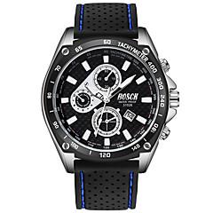 preiswerte Herrenuhren-BOSCK Armbanduhr Sender Wasserdicht, Kalender, Neues Design Weiß / Schwarz / Blau / Nachts leuchtend