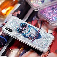 Недорогие Кейсы для iPhone-Кейс для Назначение Apple iPhone X / iPhone 8 Plus Защита от удара / Движущаяся жидкость / Прозрачный Кейс на заднюю панель Сова Мягкий ТПУ для iPhone X / iPhone 8 Pluss / iPhone 8