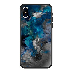 Недорогие Кейсы для iPhone 7 Plus-Кейс для Назначение Apple iPhone X / iPhone 8 Plus С узором Кейс на заднюю панель Мрамор / Градиент цвета Твердый Акрил для iPhone X / iPhone 8 Pluss / iPhone 8