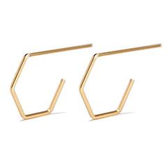 preiswerte Ohrringe-Damen Klassisch Ohrstecker - Kreativ Einfach, Geometrisch Gold / Silber Für Party / Abend Geschenk Alltag