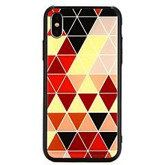 Недорогие Кейсы для iPhone 7 Plus-Кейс для Назначение Apple iPhone X С узором Кейс на заднюю панель Геометрический рисунок Твердый Закаленное стекло для iPhone X / iPhone 8 Pluss / iPhone 8