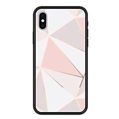 Недорогие Кейсы для iPhone 5-Кейс для Назначение Apple iPhone X / iPhone 8 Plus С узором Кейс на заднюю панель Геометрический рисунок Твердый Акрил для iPhone X / iPhone 8 Pluss / iPhone 8