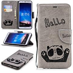 Недорогие Чехлы и кейсы для Huawei Mate-Кейс для Назначение Huawei Mate 10 lite Кошелек / Бумажник для карт / со стендом Чехол Панда Твердый Кожа PU для Mate 10 lite