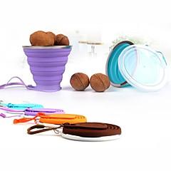 abordables Tazas y vasos-Vasos Cuerpo completo de silicona Novedad en Vajillas / Vaso Portátil / Adorable 1 pcs