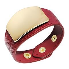 preiswerte Armbänder-Damen Stilvoll Breites Armband - Leder Kreativ Modisch Armbänder Grau / Braun / Rot Für Party / Geschenk