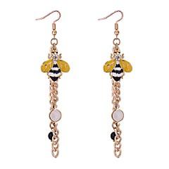 preiswerte Ohrringe-Damen Lang Tropfen-Ohrringe - Künstliche Perle, Strass Biene Retro, Ethnisch, Modisch Gold Für Party / Geburtstag