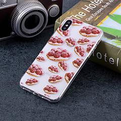 Недорогие Кейсы для iPhone 7-Кейс для Назначение Apple iPhone X / iPhone 8 Plus IMD / С узором Кейс на заднюю панель Фрукты Мягкий ТПУ для iPhone X / iPhone 8 Pluss / iPhone 8