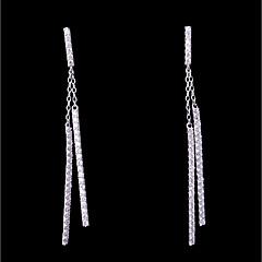 preiswerte Ohrringe-Damen Kubikzirkonia Stilvoll Ohrstecker / Tropfen-Ohrringe - Einfach, Modisch Weiß Für Hochzeit / Alltag