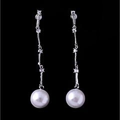 preiswerte Ohrringe-Damen Kubikzirkonia Stilvoll Ohrstecker Klips - Kugel Einfach, Modisch Weiß Für Hochzeit Party