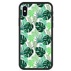 Недорогие Кейсы для iPhone 7 Plus-Кейс для Назначение Apple iPhone X / iPhone 8 Plus С узором Кейс на заднюю панель Растения / Мультипликация Твердый Акрил для iPhone X / iPhone 8 Pluss / iPhone 8