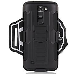 Недорогие Чехлы и кейсы для LG-Кейс для Назначение LG G6 / G3 Спортивные повязки / Защита от удара С ремешком на руку Однотонный Твердый ПК для LG K7