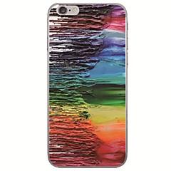Недорогие Кейсы для iPhone 6 Plus-Кейс для Назначение Apple iPhone X / iPhone 8 Ультратонкий / С узором Кейс на заднюю панель Масляный рисунок Мягкий ТПУ для iPhone X / iPhone 8 Pluss / iPhone 8