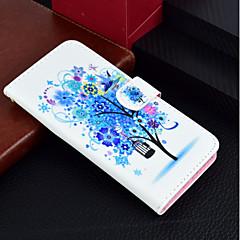 Недорогие Кейсы для iPhone 7-Кейс для Назначение Apple iPhone X / iPhone 8 Plus Кошелек / Бумажник для карт / со стендом Чехол дерево / Цветы Твердый Кожа PU для iPhone X / iPhone 8 Pluss / iPhone 8