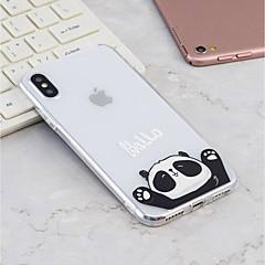 Недорогие Кейсы для iPhone X-Кейс для Назначение Apple iPhone X / iPhone 8 Plus С узором Кейс на заднюю панель Панда Мягкий ТПУ для iPhone X / iPhone 8 Pluss / iPhone 8