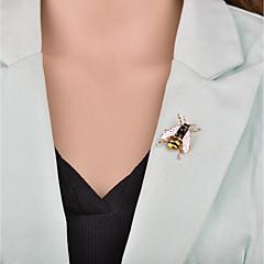 お買い得  ブローチ-女性用 3D ブローチ  -  ミツバチ カトゥーン, 欧風 ブローチ ゴールド / ホワイト / グリーン 用途 パーティー / オフィス&キャリア