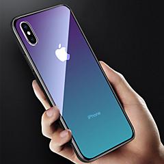 Недорогие Кейсы для iPhone 7 Plus-Кейс для Назначение Apple iPhone X / iPhone 8 Полупрозрачный Кейс на заднюю панель Градиент цвета Твердый Закаленное стекло для iPhone X / iPhone 8 Pluss / iPhone 8