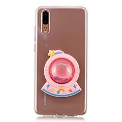 お買い得  Huawei Pシリーズケース/ カバー-ケース 用途 Huawei P20 / P20 lite リキッド バックカバー カートゥン ソフト TPU のために Huawei P20 / Huawei P20 Pro / Huawei P20 lite