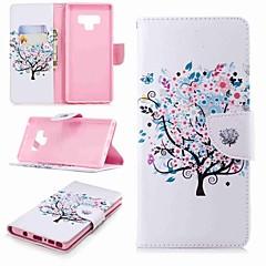 Недорогие Чехлы и кейсы для Galaxy Note 5-Кейс для Назначение SSamsung Galaxy Note 9 / Note 8 Кошелек / Бумажник для карт / со стендом Чехол дерево Твердый Кожа PU для Note 5 / Note 4 / Note 3
