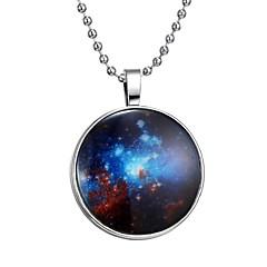 preiswerte Halsketten-Damen Leuchtender Stein Lang Anhängerketten - Kreativ Modisch Blau 60 cm Modische Halsketten 1pc Für Halloween, Klub
