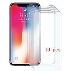 Недорогие Защитные пленки для iPhone X-Защитная плёнка для экрана для Apple iPhone X Закаленное стекло 10 ед. Защитная пленка для экрана Уровень защиты 9H / Защита от царапин