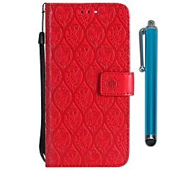 Недорогие Чехлы и кейсы для LG-Кейс для Назначение LG LG V20 MINI / K10 2018 Кошелек / Бумажник для карт / со стендом Чехол Цветы Твердый Кожа PU для LG V30 / LG V20 MINI / LG Q6