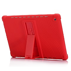 preiswerte Tablet-Hüllen-Hülle Für Huawei MediaPad MediaPad M5 10 Stoßresistent / mit Halterung Rückseite Solide Weich Silikon für MediaPad M5 10