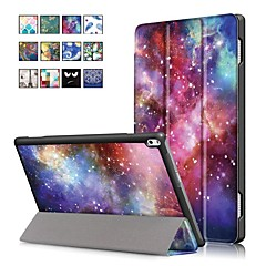 cheap Cases / Covers for Lenovo-Case For Lenovo Tab 4 10 Plus / Tab 4 10 with Stand / Magnetic Full Body Cases Oil Painting Hard PU Leather for Lenovo Tab 4 10 Plus / Lenovo Tab 4 10