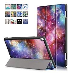 Недорогие Чехлы и кейсы для Lenovo-Кейс для Назначение Lenovo Tab 4 10 Plus / Tab 4 10 со стендом / Магнитный Чехол Масляный рисунок Твердый Кожа PU для Lenovo Tab 4 10 Plus / Lenovo Tab 4 10