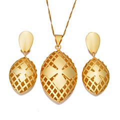お買い得  ジュエリーセット-女性用 ジュエリーセット  -  ボヘミアンスタイル, ファッション 含める フープピアス ペンダントネックレス ゴールド 用途 パーティー 贈り物 / イヤリング・ピアス