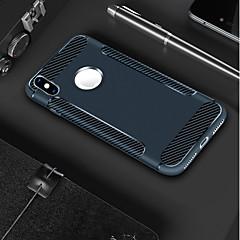 Недорогие Кейсы для iPhone 5-Кейс для Назначение Apple iPhone X / iPhone 8 Матовое Кейс на заднюю панель Однотонный Мягкий ТПУ для iPhone X / iPhone 8 Pluss / iPhone 8