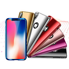 Недорогие Кейсы для iPhone-Кейс для Назначение Apple iPhone X / iPhone 8 Защита от удара / Покрытие Чехол Однотонный Твердый ПК для iPhone X / iPhone 8 Pluss / iPhone 8