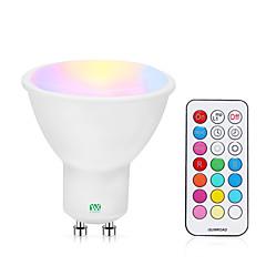 preiswerte LED-Birnen-YWXLIGHT® 1pc 5 W 200-300 lm GU10 LED Spot Lampen 1 LED-Perlen COB Abblendbar / Ferngesteuert RGBW / RGBWW 85-265 V