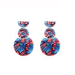 preiswerte Ohrringe-Damen Stilvoll Tropfen-Ohrringe - Geometrisch Blau Für Geschenk Alltag