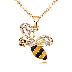 preiswerte Halsketten-Damen Stilvoll Anhängerketten - Strass Biene Europäisch, Modisch Gelb, Braun 40 cm Modische Halsketten Schmuck 1pc Für Alltag