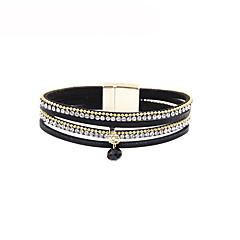 preiswerte Armbänder-Damen Stilvoll Lederarmbänder - Leder Kreativ Klassisch, Grundlegend Armbänder Braun / Rot / Blau Für Geschenk / Festival