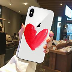 Недорогие Кейсы для iPhone-Кейс для Назначение Apple iPhone X / iPhone 8 Прозрачный / С узором Кейс на заднюю панель С сердцем Мягкий ТПУ для iPhone X / iPhone 8 Pluss / iPhone 8