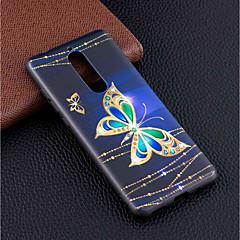 Недорогие Чехлы и кейсы для Nokia-Кейс для Назначение Nokia Nokia 5.1 / Nokia 3.1 С узором Кейс на заднюю панель Бабочка Мягкий ТПУ для Nokia 8 / Nokia 6 / Nokia 5