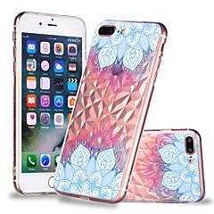 Недорогие Кейсы для iPhone 7-Кейс для Назначение Apple iPhone X / iPhone 8 Plus Прозрачный / С узором Кейс на заднюю панель Мандала Мягкий ТПУ для iPhone X / iPhone 8 Pluss / iPhone 8