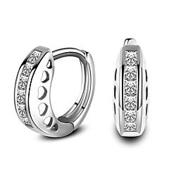 preiswerte Ohrringe-Damen Stilvoll Kreolen - Diamantimitate Stilvoll, Klassisch Silber Für Alltag