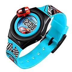 preiswerte Armbanduhren für Paare-SKMEI Damen Paar Armbanduhr Digitaluhr digital Blau / Rot / Grau Kalender Niedlich Cool digital Zeichentrick Modisch - Rot Blau Hellblau