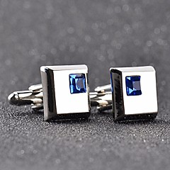 abordables Gemelos-Cúbico Plata / Azul Gemelos Cobre Casual / Moda Hombre Joyería de disfraz Para Formal / Cita