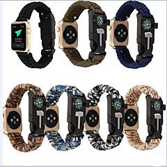 levne Apple Watch příslušenství-Watch kapela pro Apple Watch Series 4/3/2/1 Apple Kožená smyčka / DIY nástroje Nylon Poutko na zápěstí