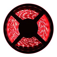 preiswerte LED Lichtstreifen-HKV 5m Flexible LED-Leuchtstreifen 300 LEDs 3528 SMD Warmes Weiß / Kühles Weiß / Rot Schneidbar / Verbindbar / Selbstklebend 12 V
