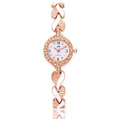 preiswerte Damenuhren-Damen Armband-Uhr / Armbanduhr Chinesisch Armbanduhren für den Alltag / Imitation Diamant Legierung Band Freizeit / Modisch Schwarz / Weiß / Blau