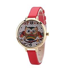preiswerte Damenuhren-Damen Kleideruhr Armbanduhr Quartz Neues Design Armbanduhren für den Alltag PU Band Analog Modisch Elegant Schwarz / Blau / Rot - Rot Blau Rosa Ein Jahr Batterielebensdauer